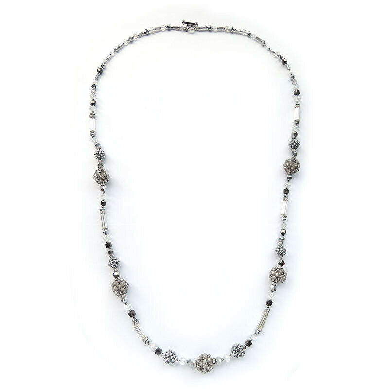 Long Beaded Necklace Of Gem Stones