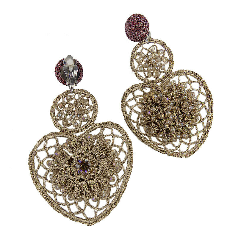 Crochet Ace Shape Statement Earrings