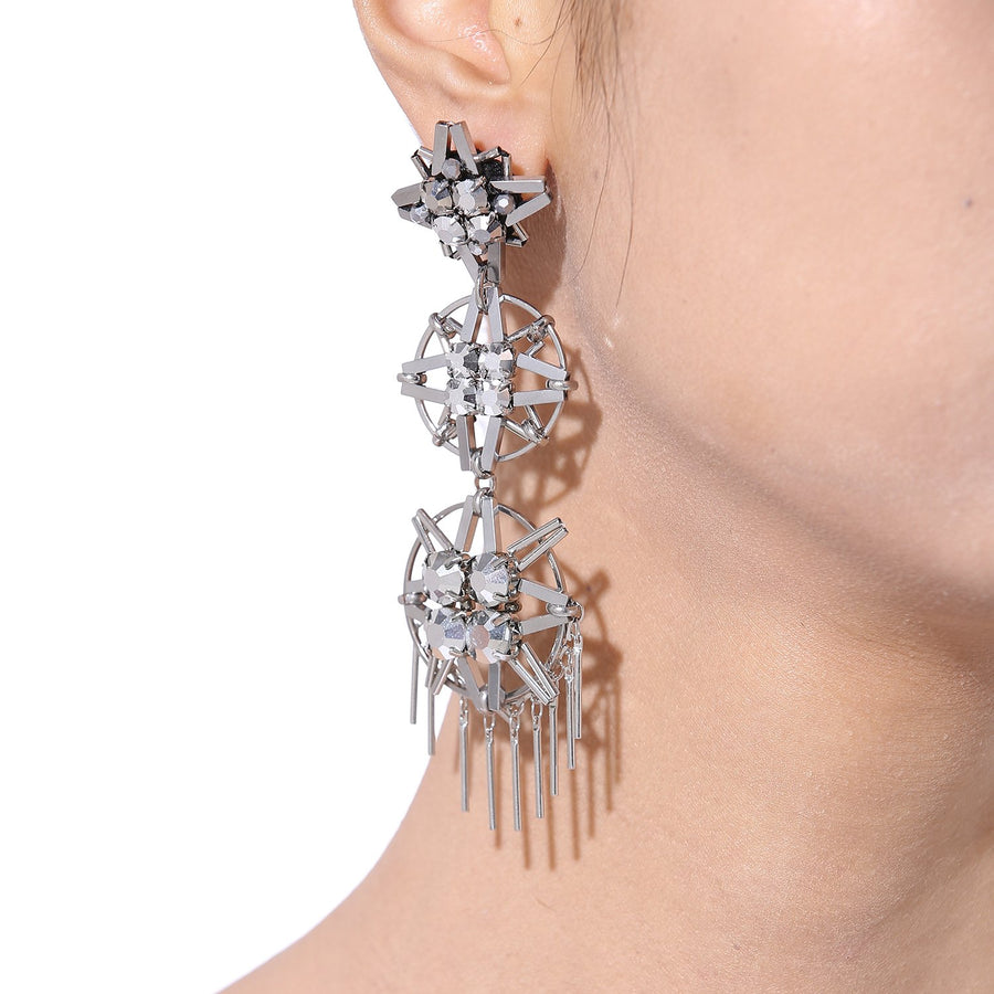 Asymmetrical Earrings Handcrafted