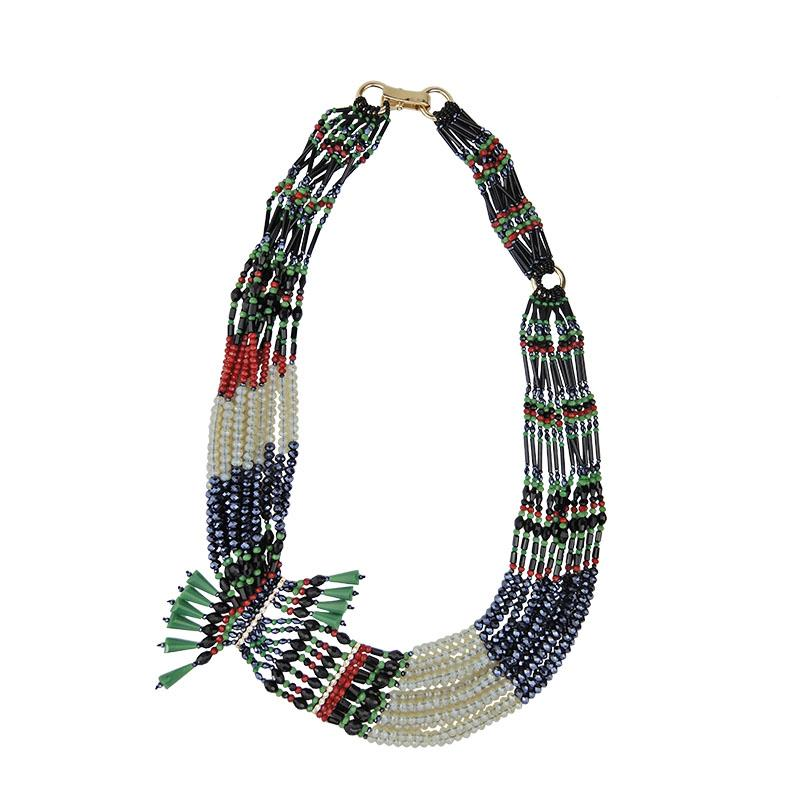 Asymmetrical Luxury Multi Strand Necklace