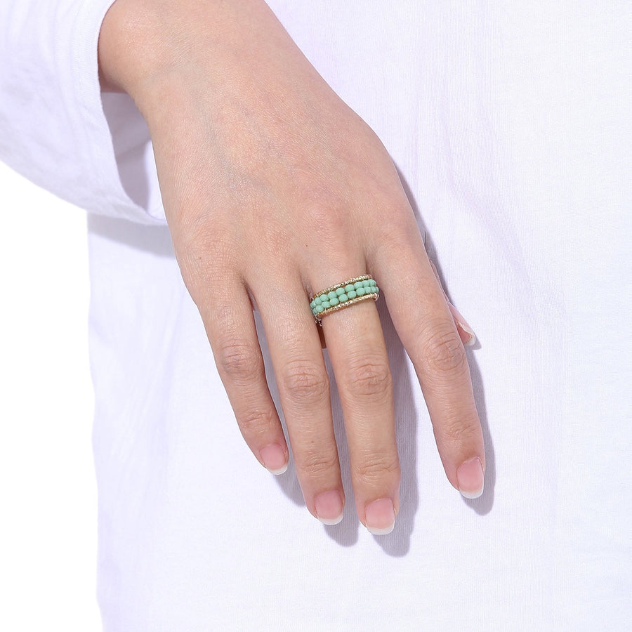 Handcrafted Beaded Stackable Ring