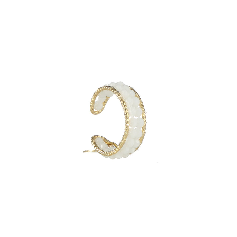 White Beaded Stackable Ring