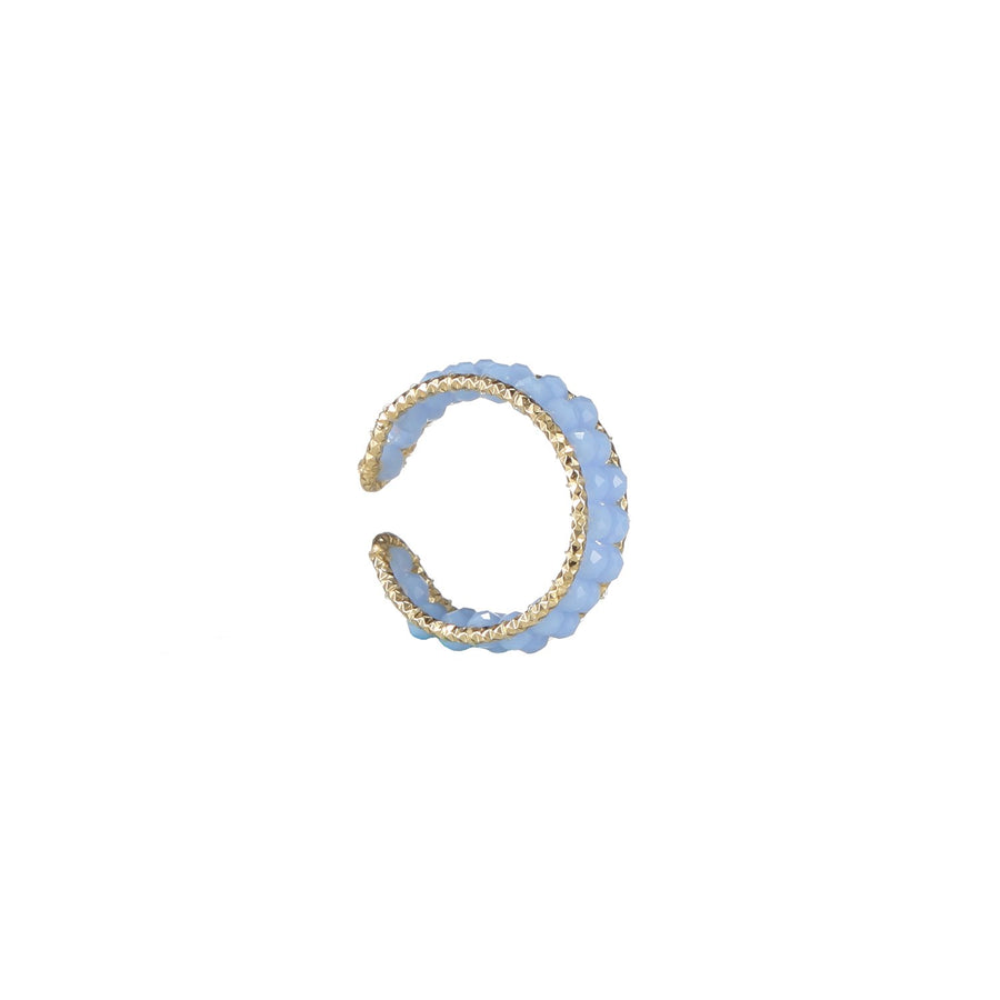 Sky Blue Beaded Stackable Ring