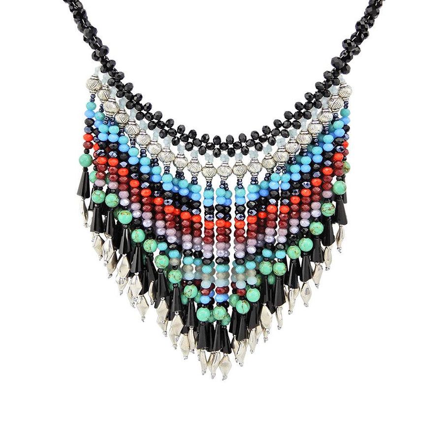 Handmade Cascade Beaded Necklace