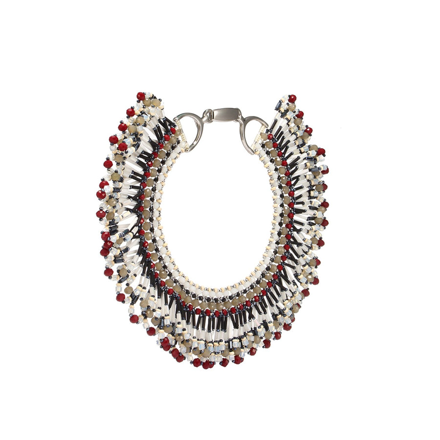 Boho Style Fringed Statement Necklace