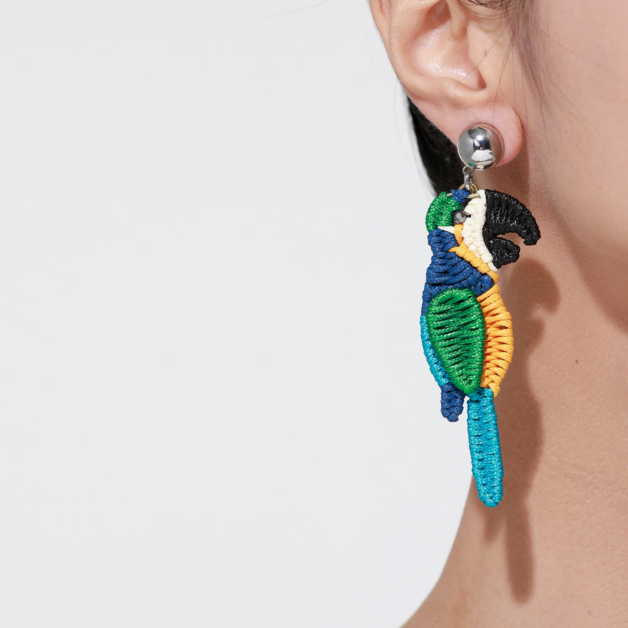 Colorful Bird Earrings - Macaw