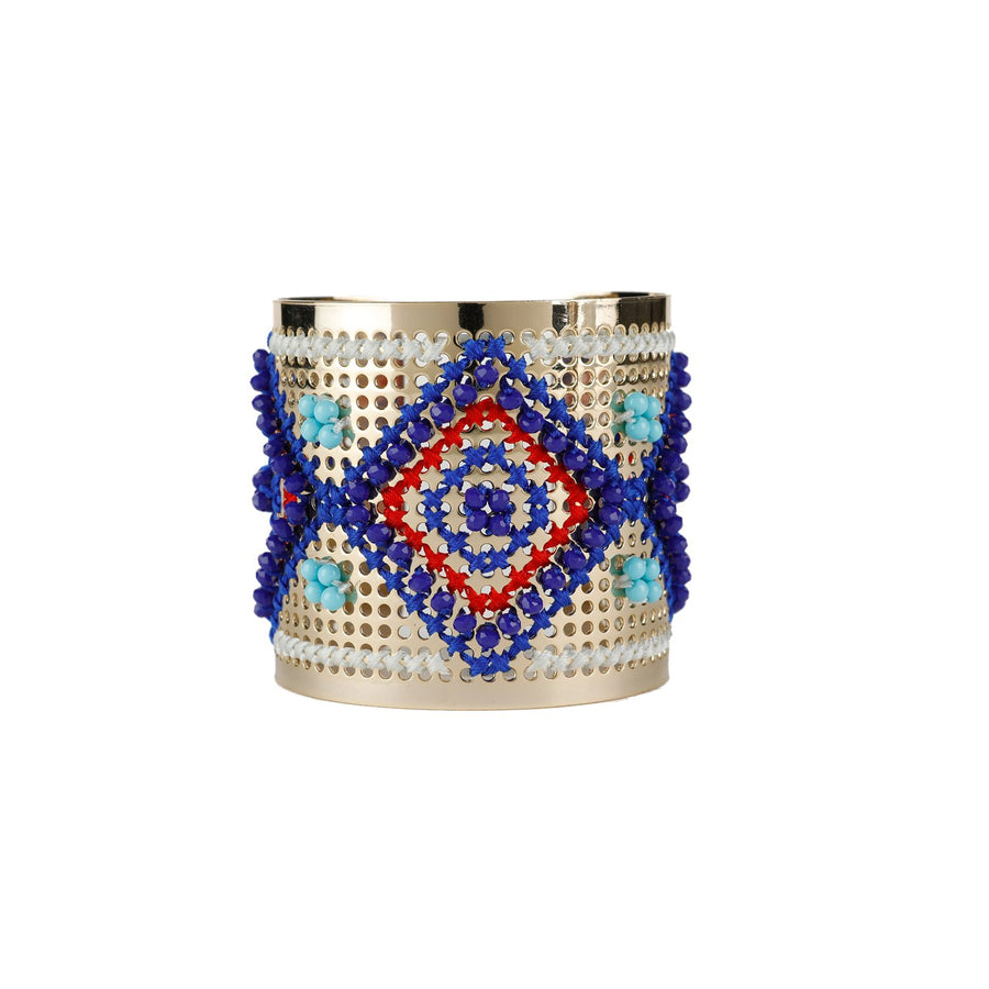 Cross Stitch Metal Cuff