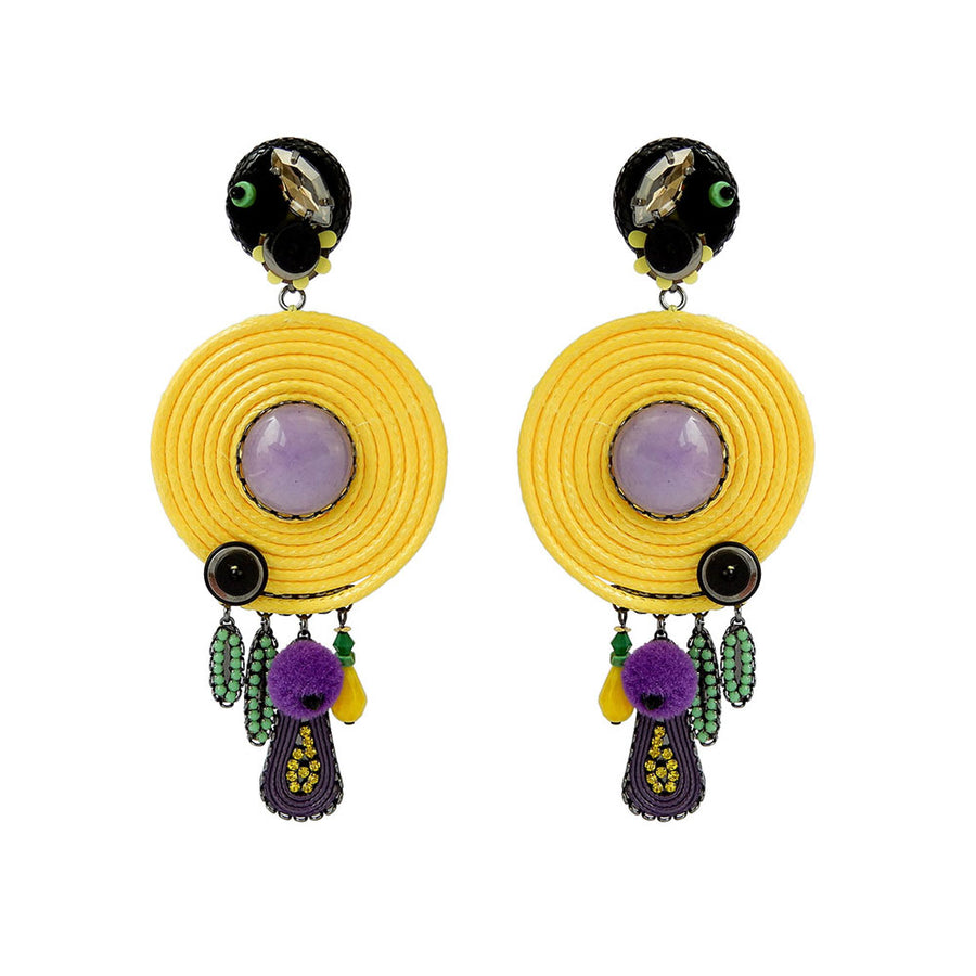 Colourful Statement Earrings