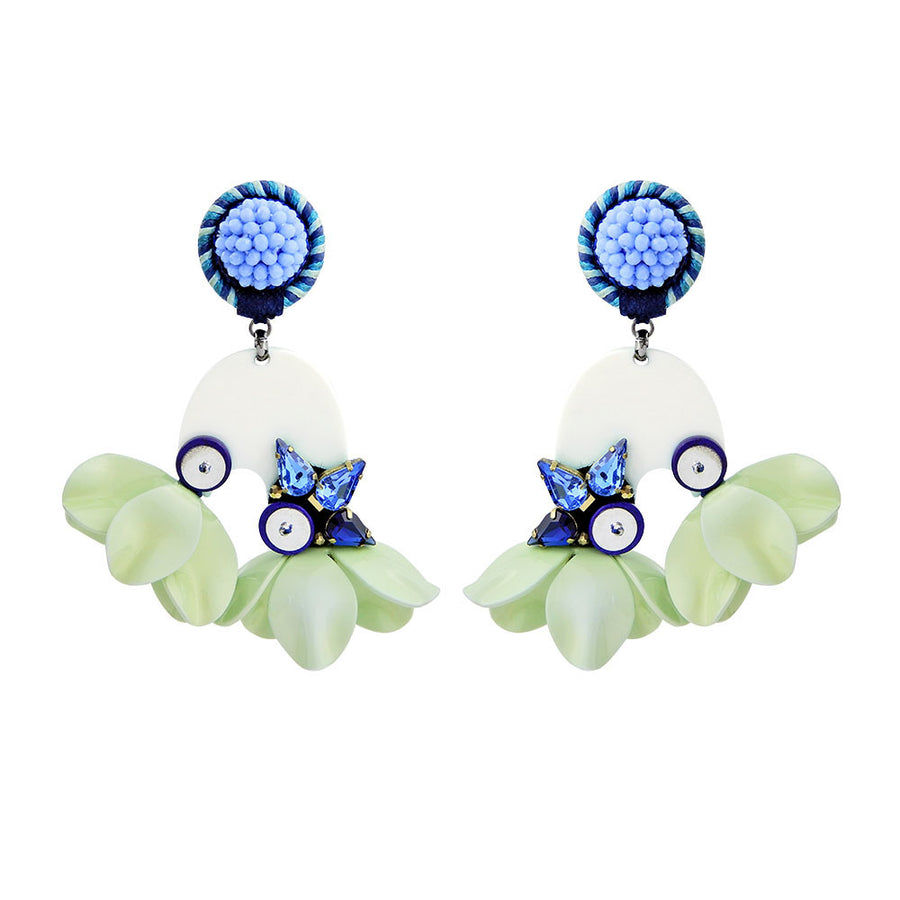 Mint Floral Earrings