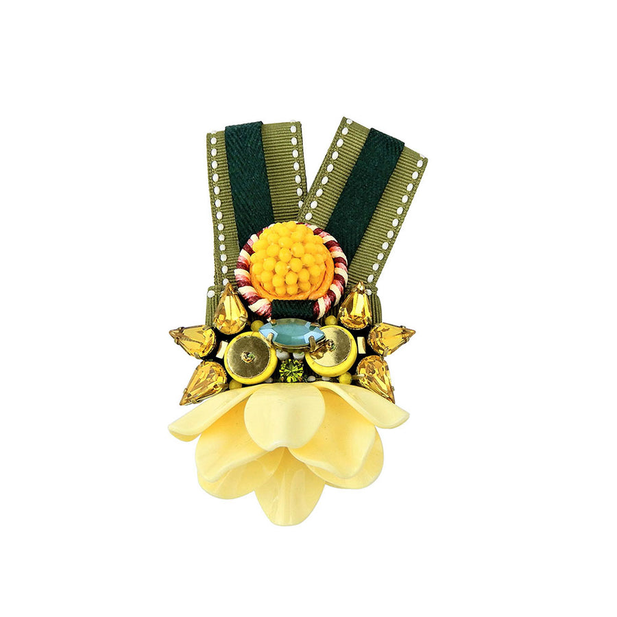 Yellow Festival Medal Brooch