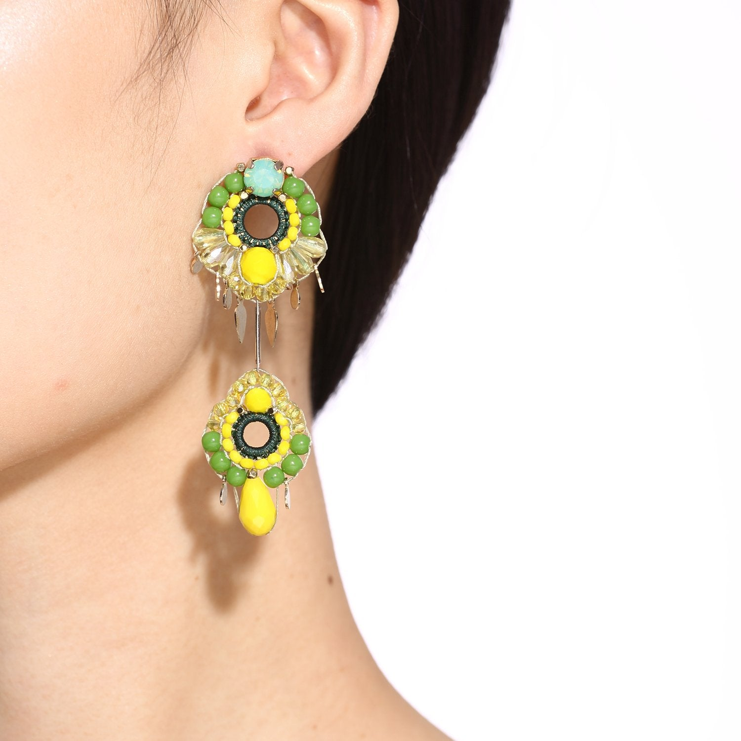 Statement Earrings With Black Dress