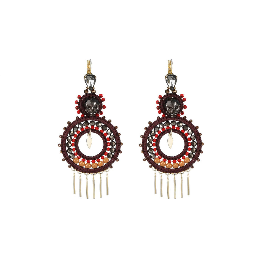 Jewel Tone Statement Earrings
