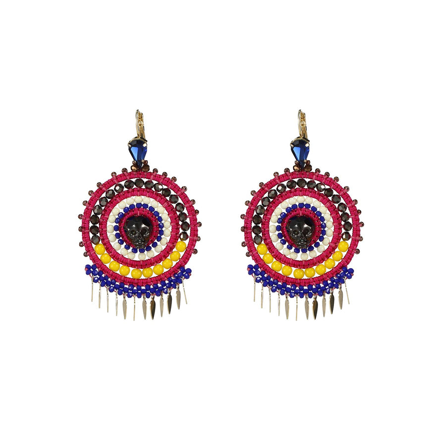 Fuchsia Statement Earrings