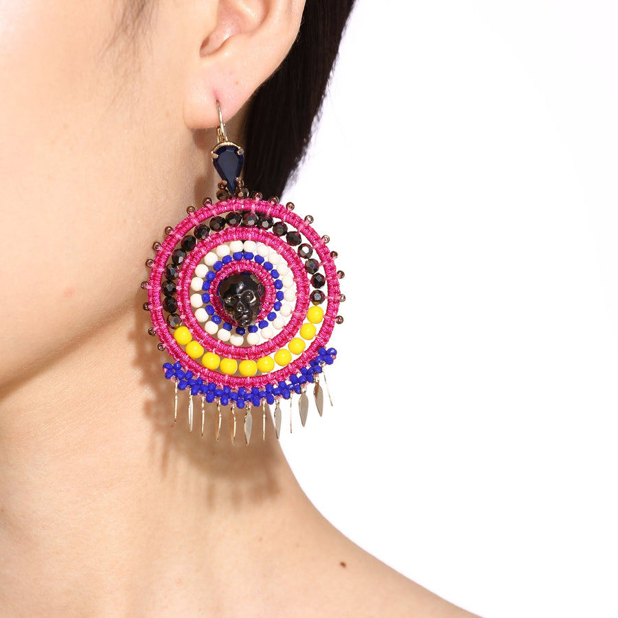 Multi Colored Statement Earrings