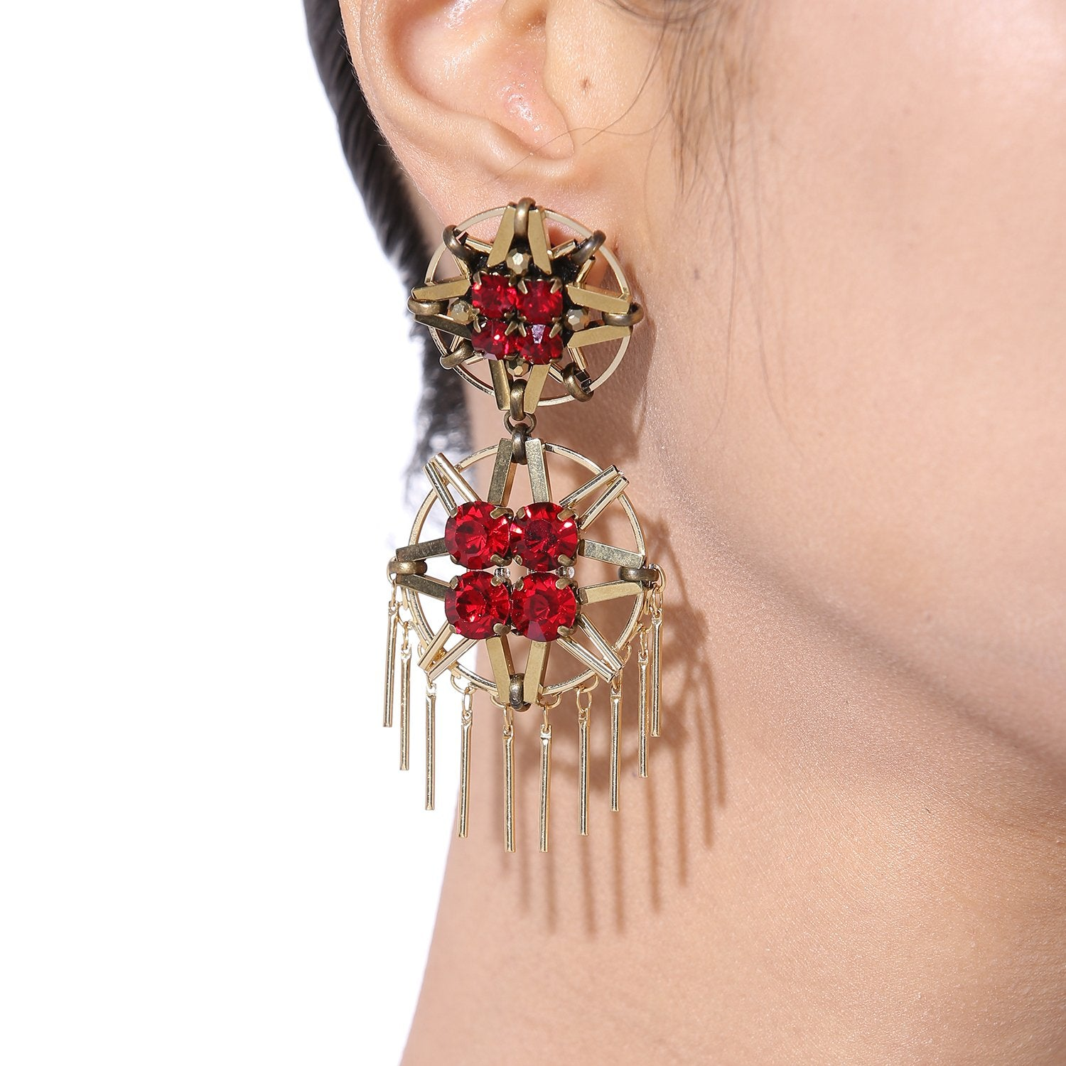 Handmade Red Earrings
