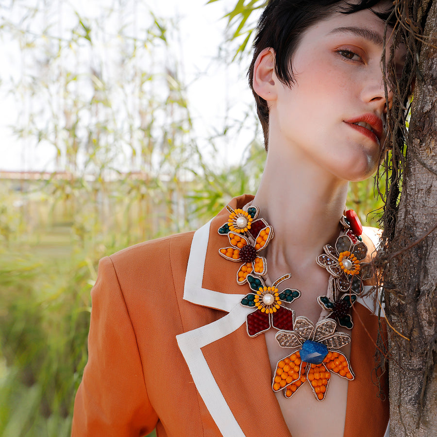 Statement Necklace Inspired by Van Gogh's Paintings