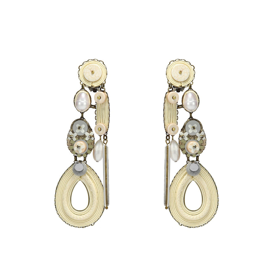 Statement Ivory Earrings