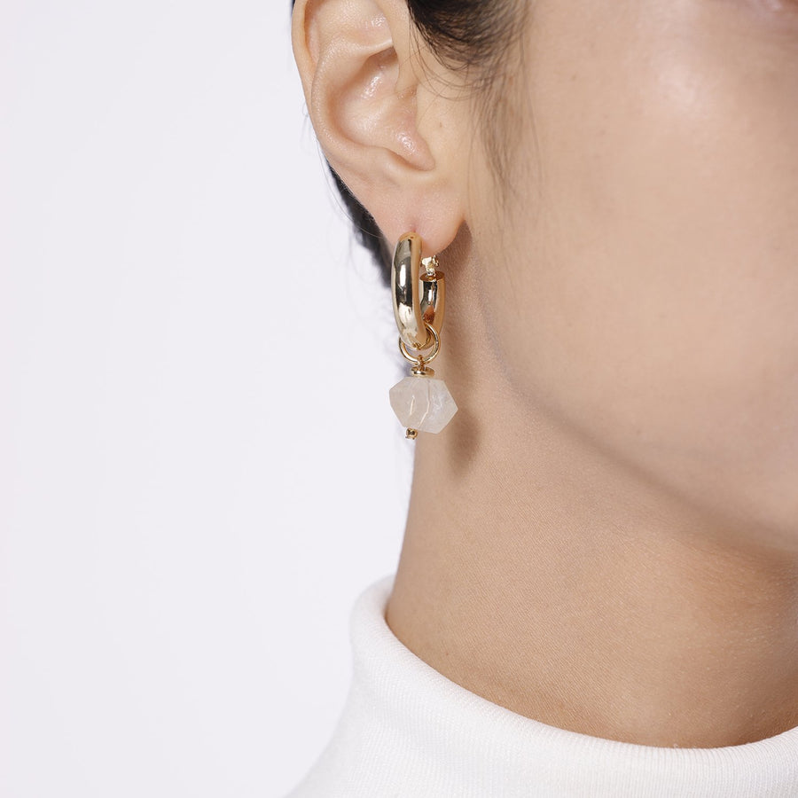 Mismatch Pearls and Citrine Earrings