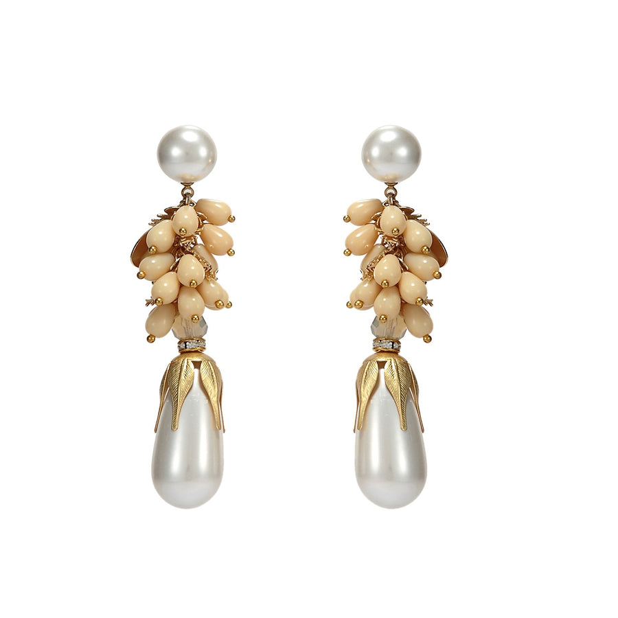 Pearl Drop Statement Earrings