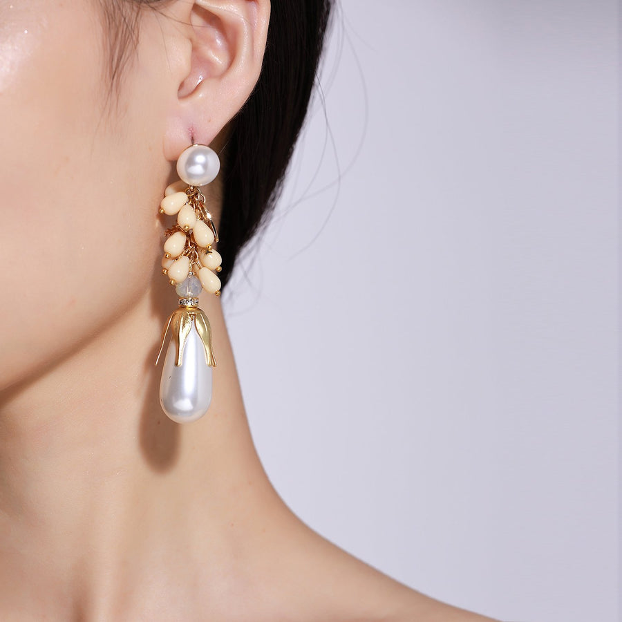 Handmade Pearl Statement Earrings