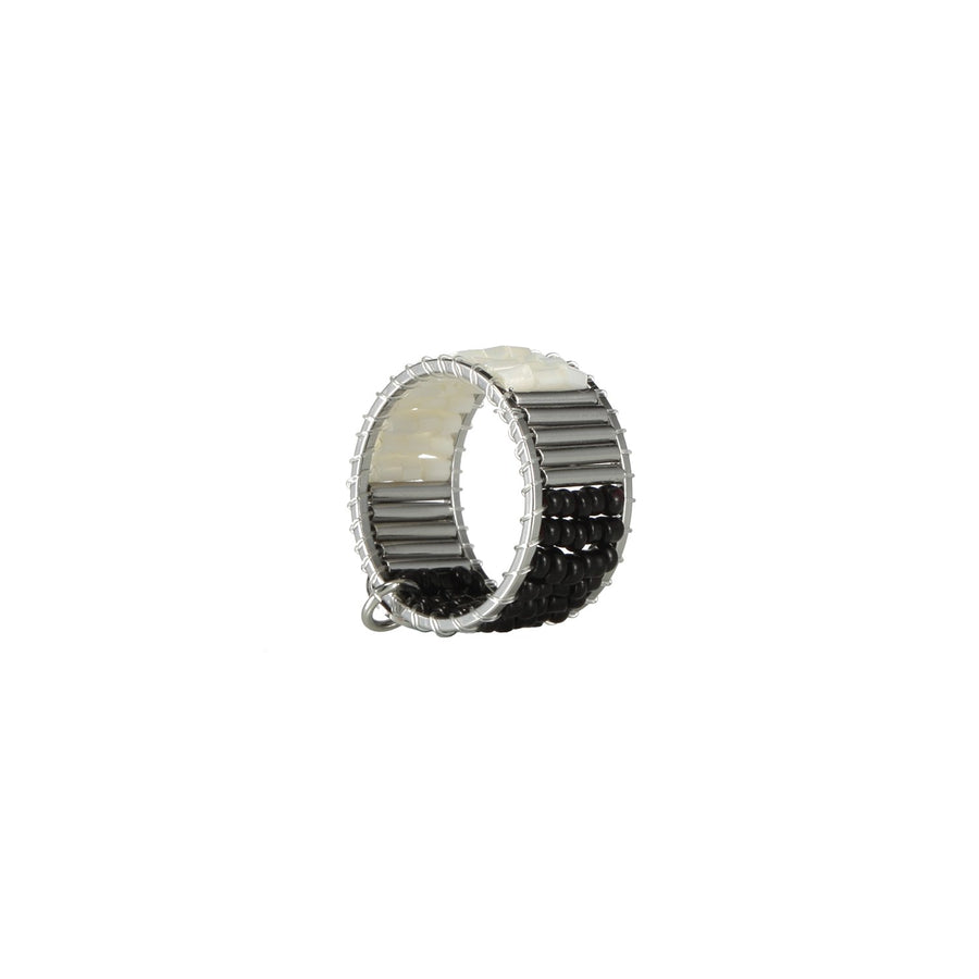Black Handcrafted Stackable Ring