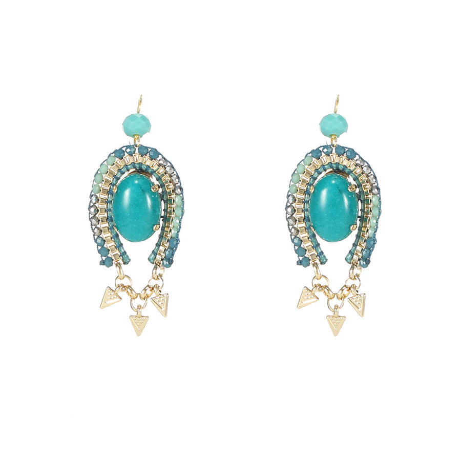 Pretty Cabochon Dangling Earrings