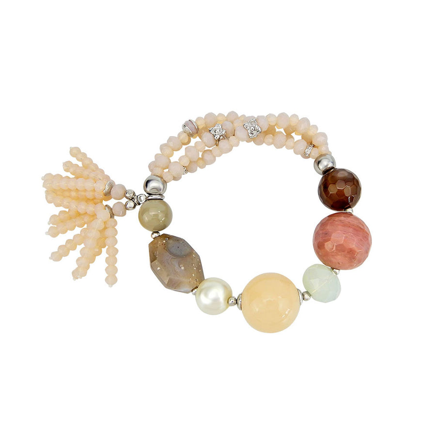 Peach Custom Gemstone Bracelet