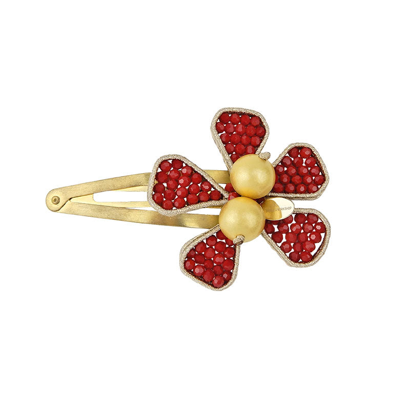 Red Flower Hair Pin