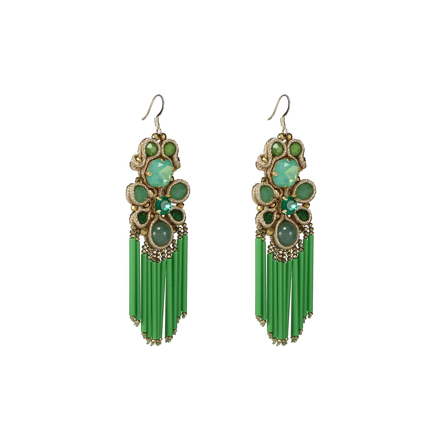 Green Handmade Earrings