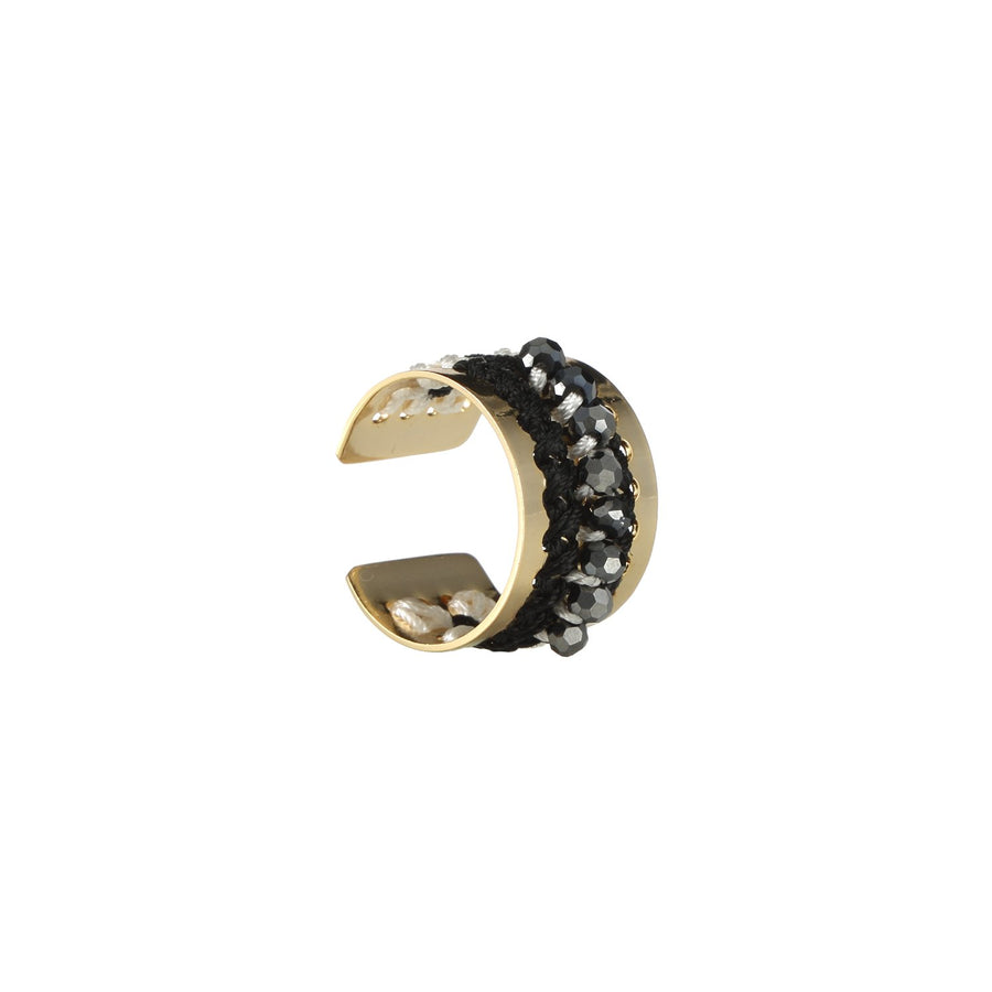 Black Handmade Stackable Ring