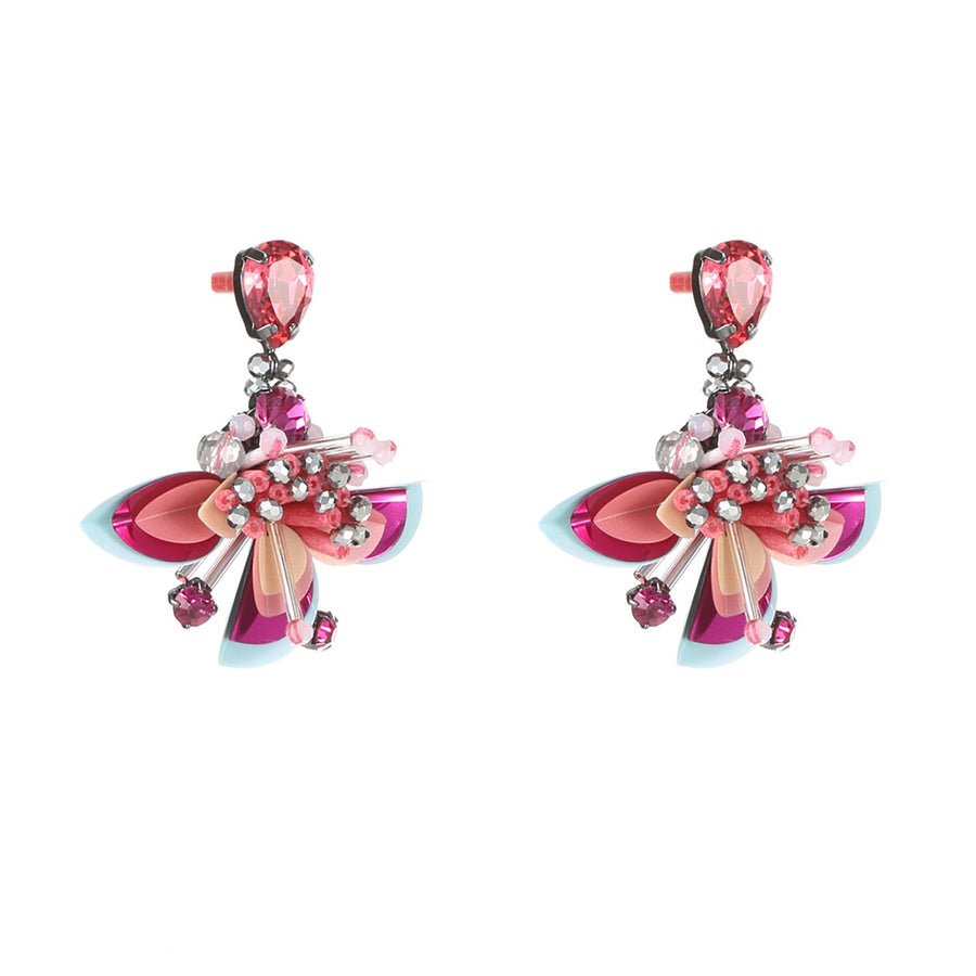 Statement Tropical Flower Earrings
