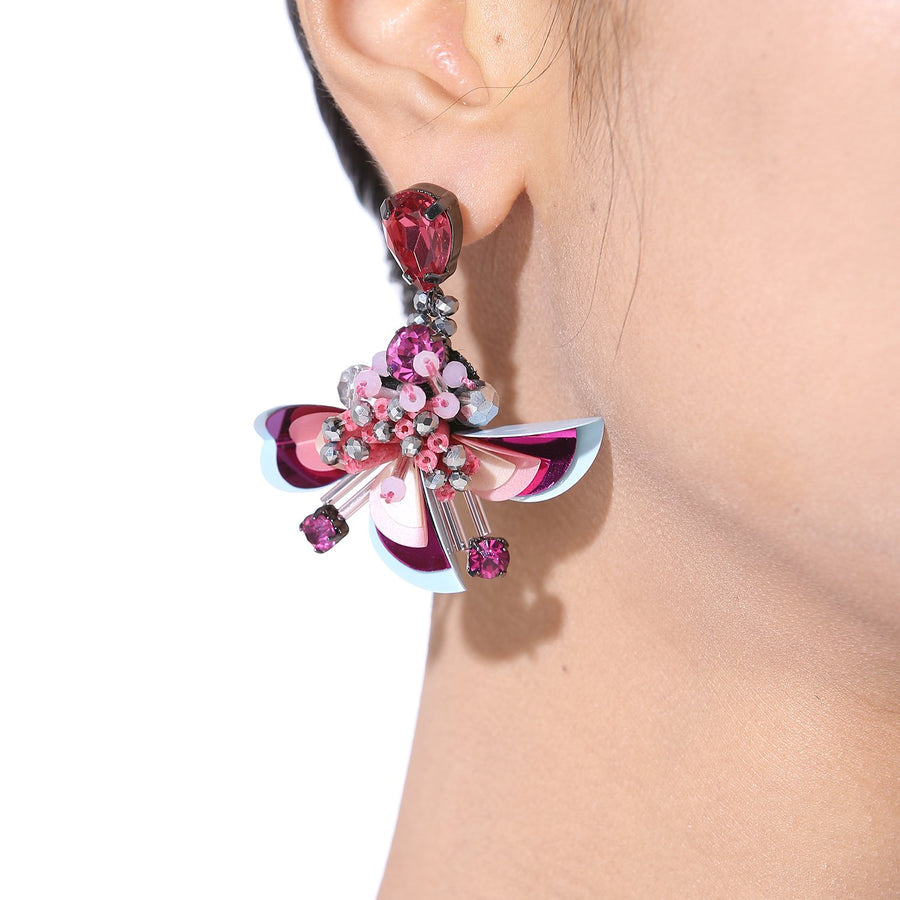 Statement Flower Earrings