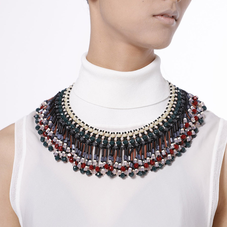 Tribal Fringed Statement Necklace