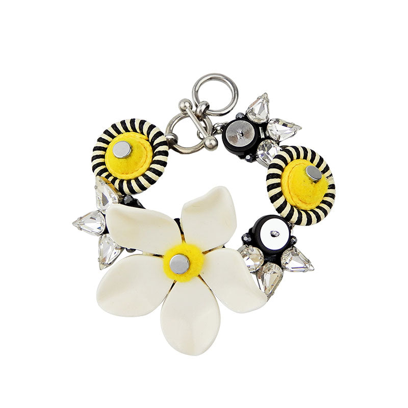 Plexiglass Flower Statement Bracelet