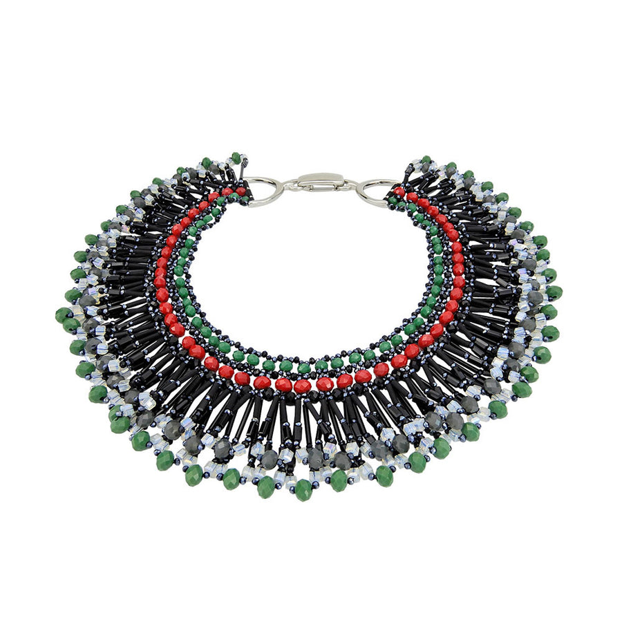 Green Bib Necklace Jewelry