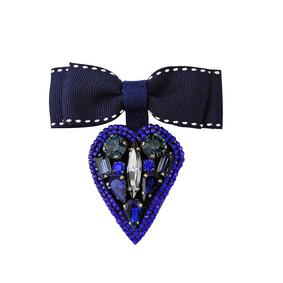 Blue Heart Shaped Brooches And Pins