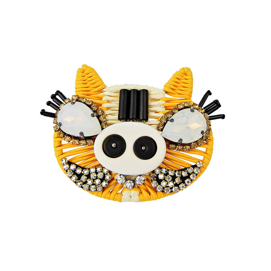 Yellow Pig Brooch