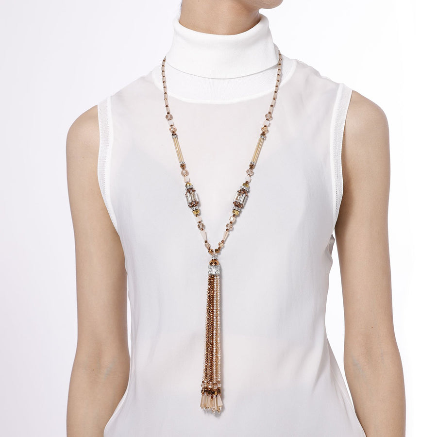 Y Shaped Tassel Necklace