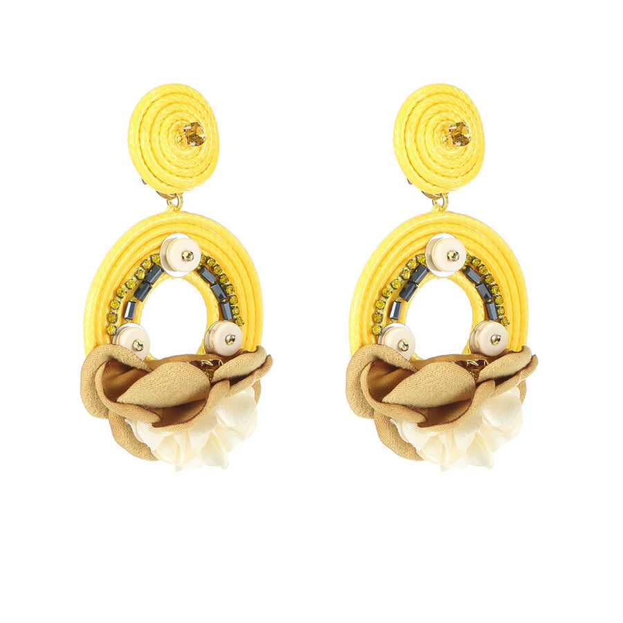 Yellow Handcrafted Earrings