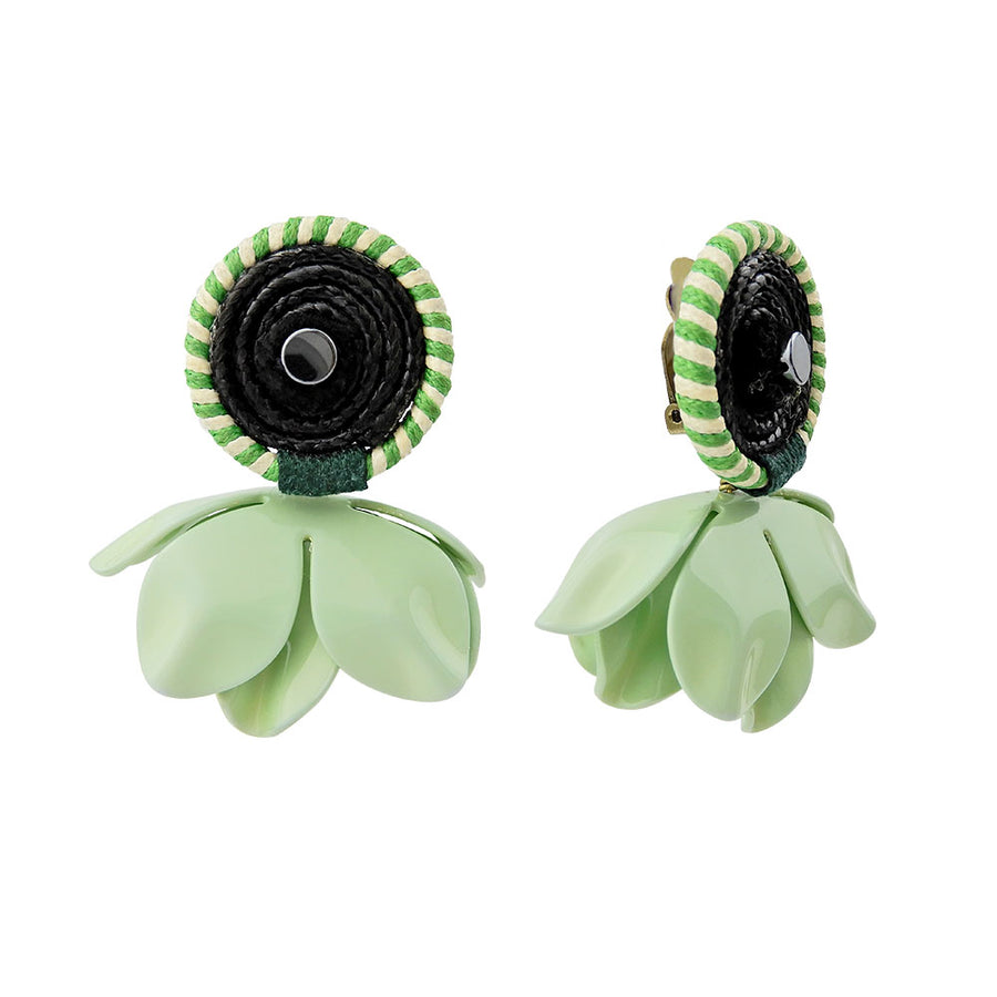 Mint Flower Earrings