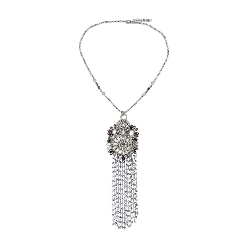 Cascade Crystal Drape Necklace