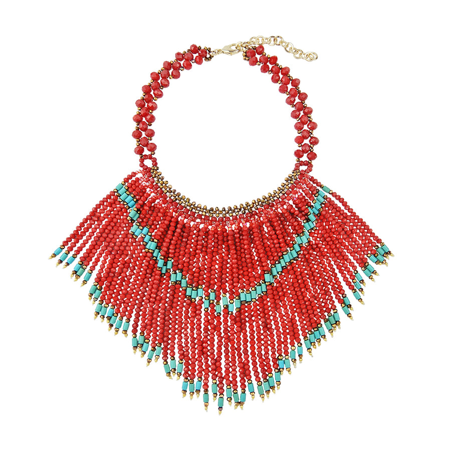 Ethnic Fringed Necklace