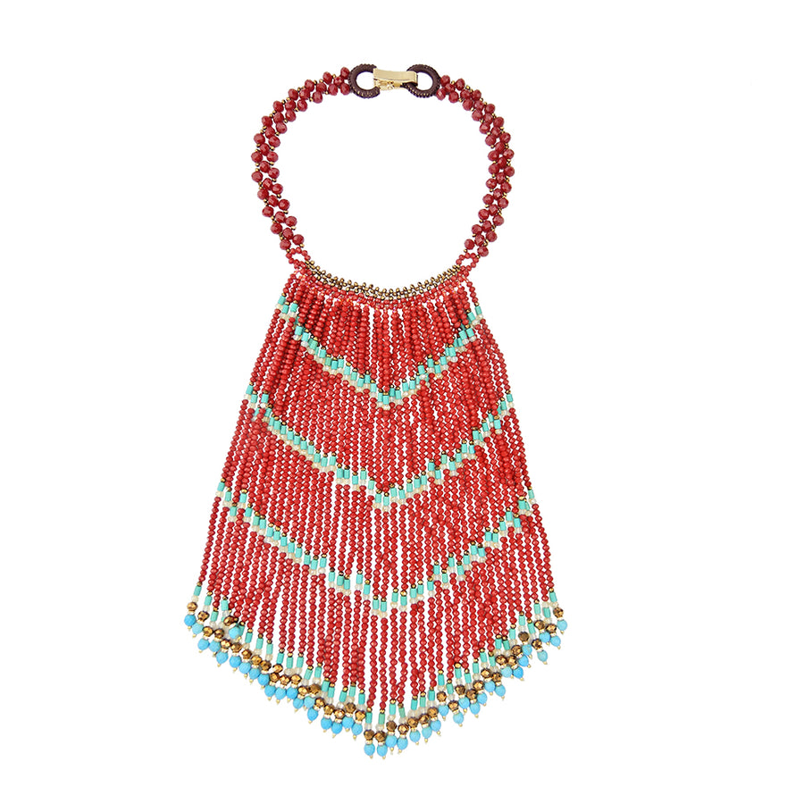 Ethnic Cascade Necklace