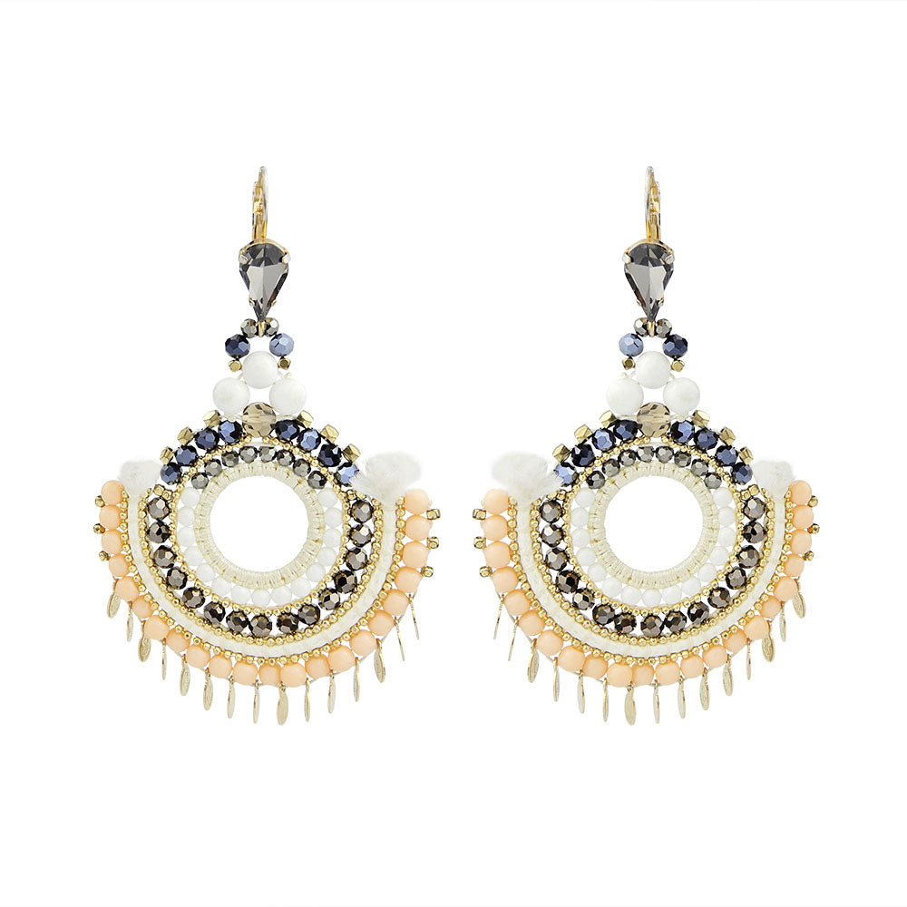 Hand Woven Chandelier Earrings