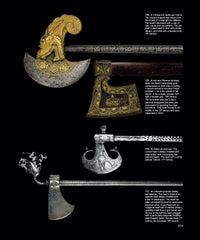 Page 303 - Chinese, Ottoman, Indian, Iranian Axe heads from the book - Islamic and Oriental Arms and Armour: A Lifetime's Passion by Robert Hales