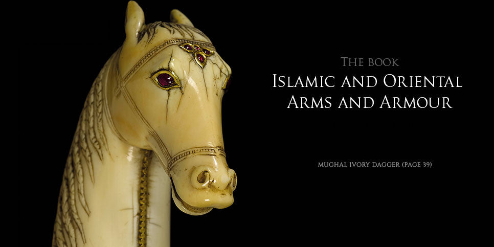 Page 39 Mughal ivory dagger from the book Islamic and Oriental Arms and Armour by Robert Hales