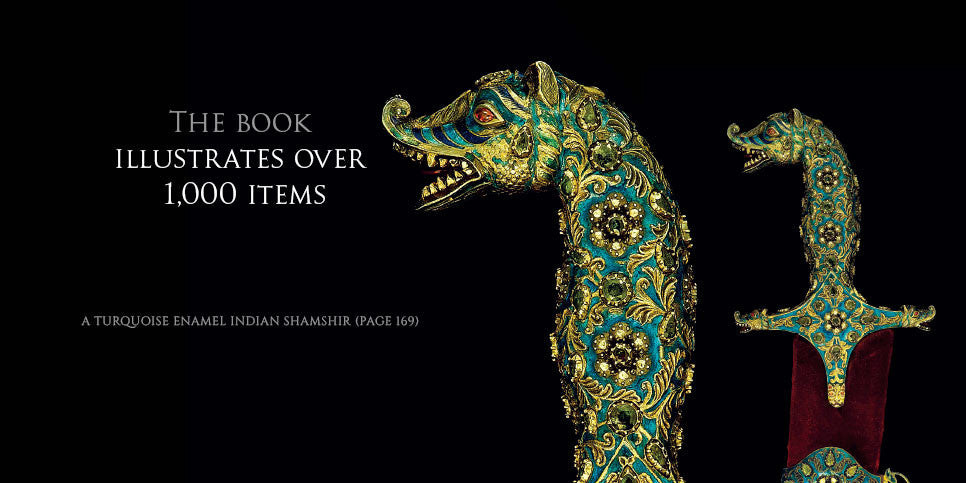 Page 169 Turquoise enamel Indian Shamshir from the book Islamic and Oriental Arms and Armour by Robert Hales
