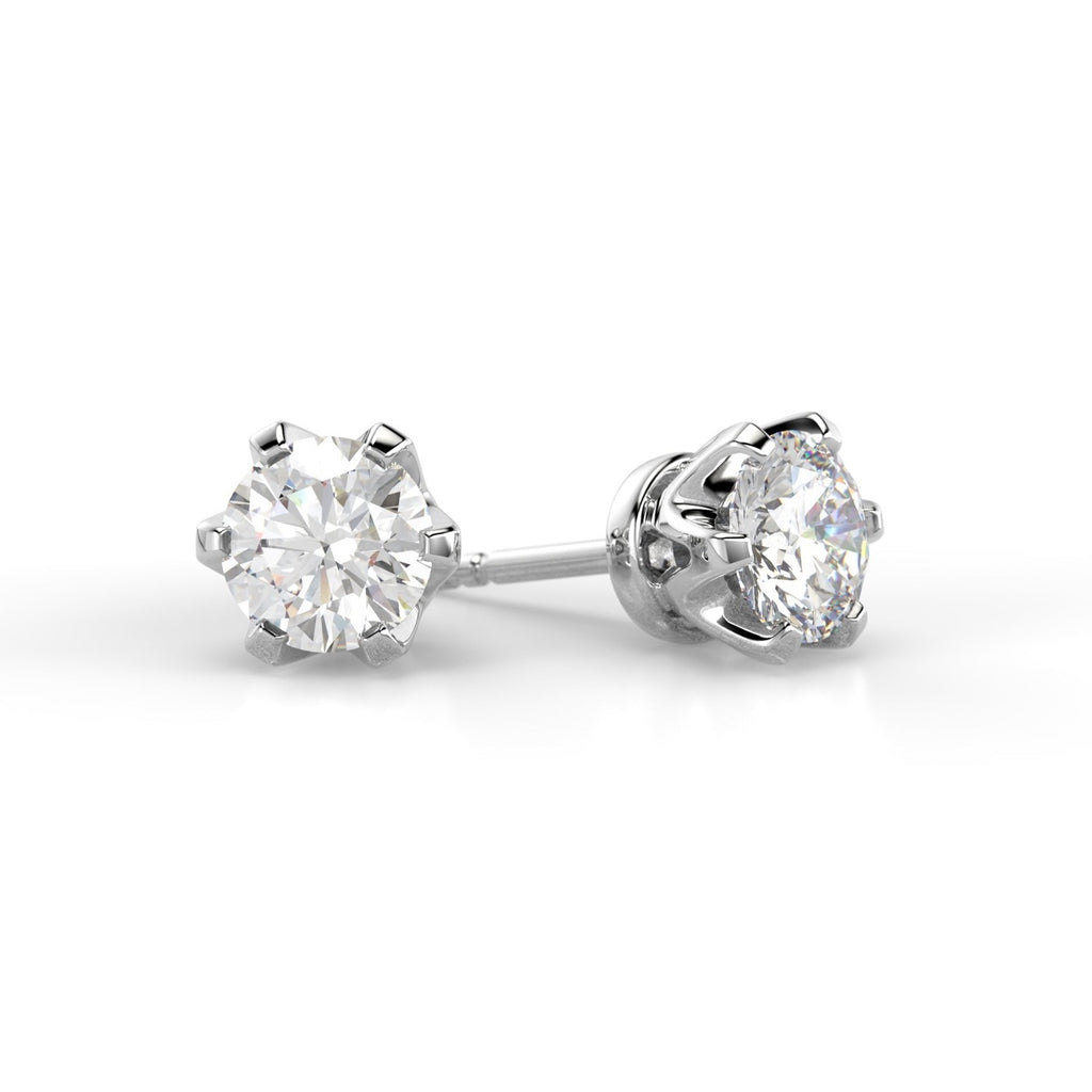 Classic earrings 2x0.50 ct
