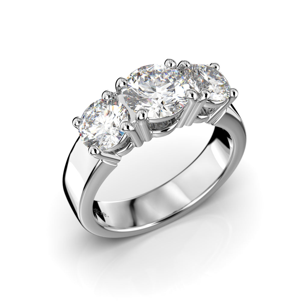 Timanttisormus Trilogy Trend 2,00 ct
