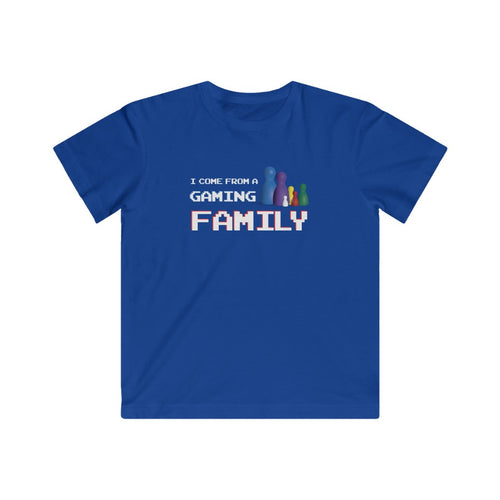 I Come From A Gaming Family - Kids Fine Jersey Tee